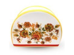 Салфетница S&T цветочная роспись ST 3662-16