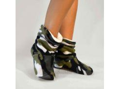 Домашние женские тапочки-сапожки Slivki Military 40-41