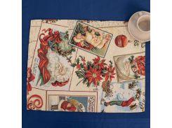 Салфетка гобеленовая Новогодняя с люрексом Villa Grazia Premium Новогодняя ночь 35Х45 см PN18ASetMesa-35x45EA салфетка 35х45 см