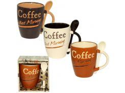 Чашка с ложкой S&T Кофе 360 мл ST 2167-13