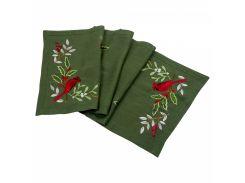 Дорожка льняная Merry Christmas Гармония зеленый