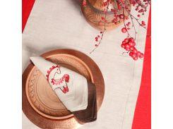 Салфетка льняная Трипольская игрушка Гармония серый