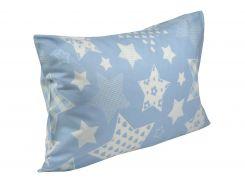 Наволочка Руно 35.116 Blue star голубая 70х70 см