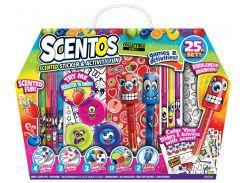 Ароматный набор для творчества - ВЕСЕЛЫЕ ФРУКТЫ ручки маркеры наклейки масса для лепки Scentos 42096