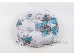Подушка на стул Lotus круглая Doris бирюзовая диаметр 40 см