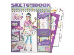 Набор для творчества Candy Pop (альбом для раскрашивания, карандаши) Wooky AKT-01424