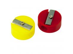 Точилка круглая пластиковая Buromax BM.4700 цвет красный