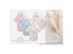 Конверт утепленный для малышей Bembi КВ34 Размер 68, молочный