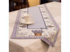 Раннер гобеленовый Emilia Arredamento Лавандовый рай 45x140 см