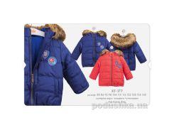 Куртка для мальчика Bembi КТ177 плащевка с утеплителем Размер 134, красный