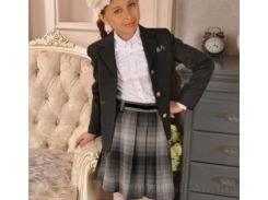 Школьная юбка Милана Ю-02112 серая в клетку 30 (Р-134, ОГ-60, ОТ-57)