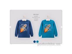 Футболка для мальчика с длинным рукавом Bembi ФБ562 интерлок Размер 104, синий