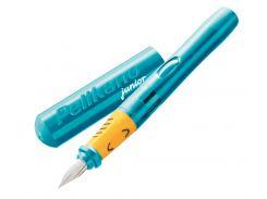 Ручка перьевая для левши Pelikan Pelikano Junior Turquoise 924894