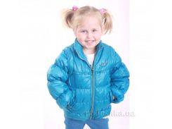Курточка-жилет для девочки Димакс КуД 22 голубая 110
