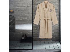4553d8f13b8c Халат махровый Beverly Hills Polo Club 355BHP1704 кремовый S/M