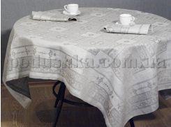 Льняная скатерть Гламур Белорусский лен 17С156 ц330,р252 150х250 см