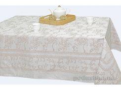 Скатерть полульняная жаккардовая Белорусский лен Луиза 16С369 цв.133, р.3 бежевая 150х250 см