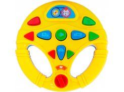 Мой первый интерактивный руль BeBeLino желтый 58083-2
