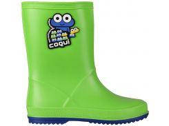 Резиновые сапоги Coqui Rainy 8505 зеленые с синим 25