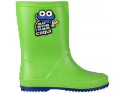 Резиновые сапоги Coqui Rainy 8505 зеленые с синим 27