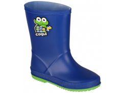 Резиновые сапоги Coqui Rainy 8505 синий с зеленым 24