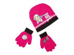 Шапка и перчатки Барби Disney (Arditex) розовые BR9887 pink 54