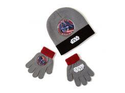 Шапка и перчатки Звездные войны Disney (Arditex) серые SW9868 gray 50-52