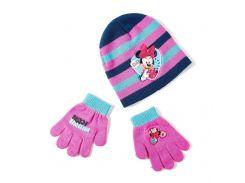 Шапка и перчатки Минни Маус Disney (Arditex) WD9758 pink 50-52