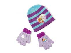 Шапка и перчатки Холодное сердце Disney (Arditex) голубая полоска WD9788 blue-51 50-52