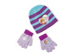 Шапка и перчатки Холодное сердце Disney (Arditex) голубая полоска WD9788 blue-51 54