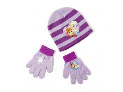 Шапка и перчатки Холодное сердце Disney (Arditex) фиолетовая полоска WD9788 violet 54