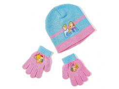 Шапка и перчатки Принцессы Disney (Arditex) голубой и розовый WD9815 blue 48