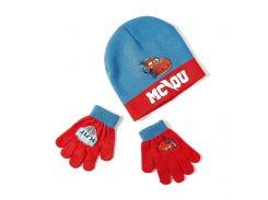 Шапка и перчатки Тачки Disney (Arditex) синий и красный WD9823 blue-51 50-52