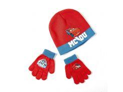 Шапка и перчатки Тачки Disney (Arditex) синий и красный WD9823 red-51 50-52