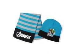 Шапка и шарф Мстители Disney (Arditex) синие AV9836 blue 50