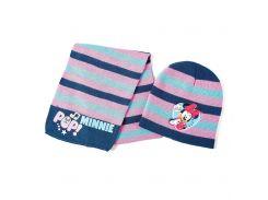 Шапка и шарф Минни Маус Disney (Arditex) лиловая полоска WD9757 lilac 50-52