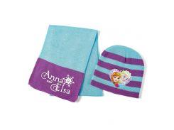 Шапка и шарф Холодное сердце Disney (Arditex) голубая полоска WD9787 blue-51 50-52