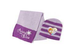 Шапка и шарф Холодное сердце Disney (Arditex) фиолетовая полоска WD9787 violet 50-52