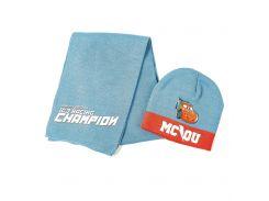 Шапка и шарф Тачки Disney (Arditex) голубой WD9822 blue 50-52