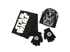 Комплект: шапка, шарф, перчатки Звездные войны Disney (Arditex) SW9873 black-51 50