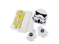 Комплект: шапка, шарф, перчатки Звездные войны Disney (Arditex) белый SW9873 white 50