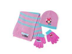 Комплект: шапка, шарф, перчатки Минни Маус Disney (Arditex) WD9756 ltpink 46