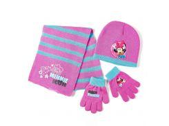 Комплект: шапка, шарф, перчатки Минни Маус Disney (Arditex) розовый WD9756 pink 48