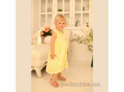 Платье для девочки ОТМ Дизайн 4030 желтое 98