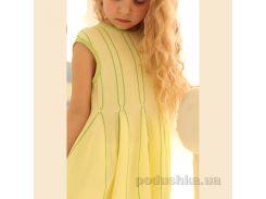 Платье трикотажное для девочки ОТМ Дизайн 4128 желто-зеленое 98