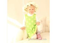Сарафан трикотажный для девочки ОТМ Дизайн 4125 лайм зеленый 98