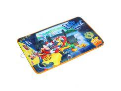 Прикроватный велюровый коврик со стоппером Микки и веселые гонки Disney (Arditex) WD11625