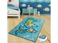 Коврик в детскую комнату Chilai Home Map Mavi