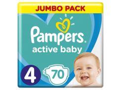 Подгузники Pampers Active Baby Размер 4, 9-14 кг 70 шт 8001090948250