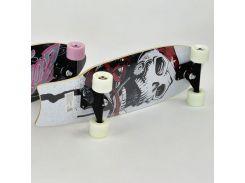 Скейт Best Roller F 22228 Череп Бело-Красный